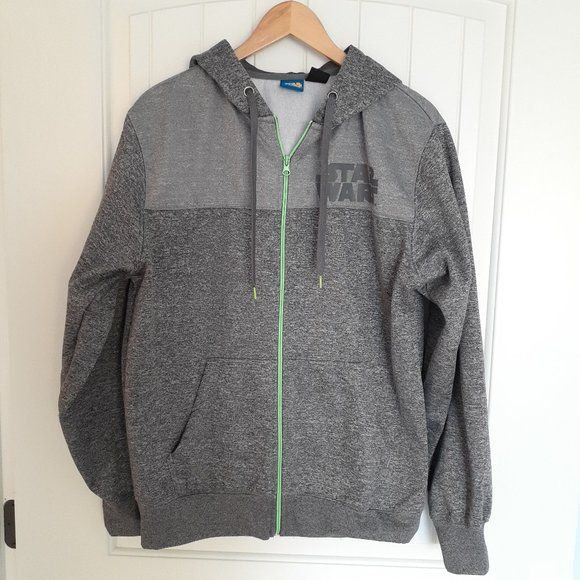 Star Wars Full Zip Sweatshirt Hoodie. Size M